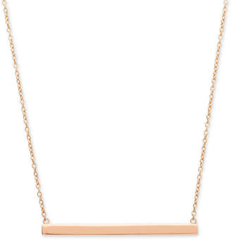 """Giani Bernini Horizontal Bar 16"""" Pendant Necklace in 18k Rose Gold-Plated Sterling Silver"""