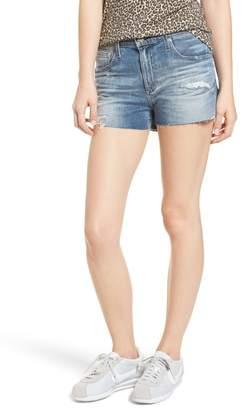 AG Jeans The Bryn High Waist Cutoff Denim Shorts (Indigo Deluge Destructed)