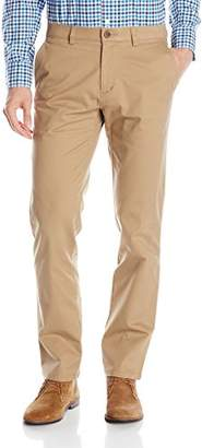 Haggar Men's City Chino Stretch Slim-Fit Flex-Waistband Flat-Front Pant