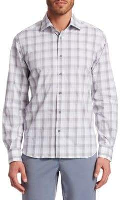 Saks Fifth Avenue COLLECTION Plaid Woven Cotton Button-Down Shirt
