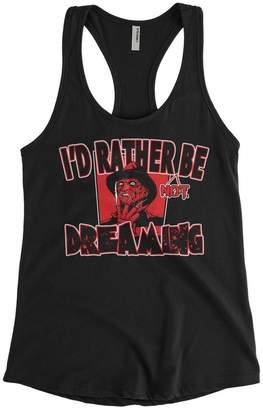 Freddy Cybertela Women's I'D Rather Not Be Dreaming Krueger Racerback Tank Top