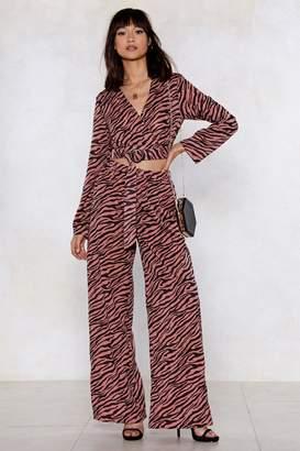 Nasty Gal Zebra Print Co-Ord Trouser