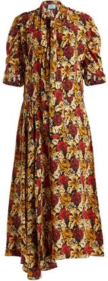 Prada Marocaine floral-print silk dress