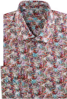 Bertigo Men's Giles Multicolor Palm Leaves Sport Shirt