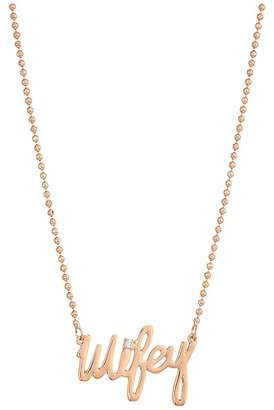 Betsey Johnson Blue by Rose Gold 'Wifey' Pendant Necklace Necklace