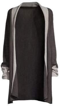 Donna Karan Stripe Lurex-Knit Cardigan