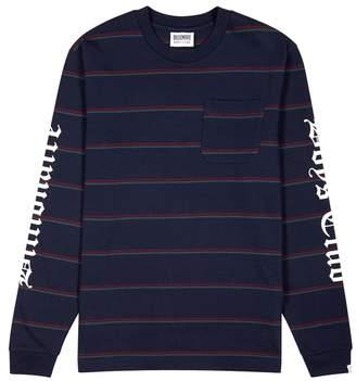 Billionaire Boys Club Navy Striped Cotton Top