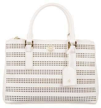 Tory Burch Laser-Cut Leather Satchel