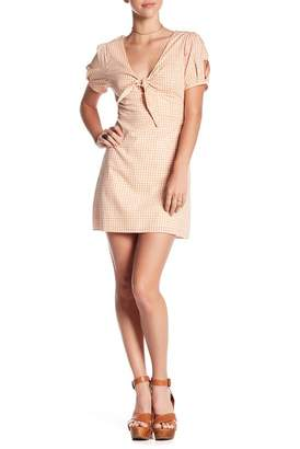 Wild Honey Gingham Front Tie Dress