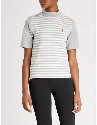BAPE Striped college cotton-jersey T-shirt