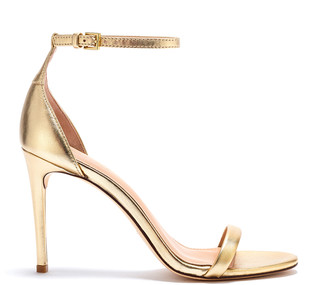 Rachel Zoe Ema Metallic Leather Heeled Sandals