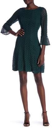 Rabbit Rabbit Rabbit Crochet Lace Fit & Flare Dress