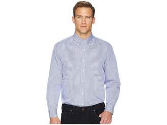 Magna Ready Long Sleeve Magnetically-Infused Check Dress Shirt - Spread Collar