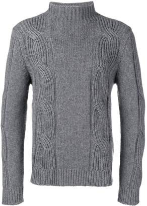 Fay cable-knit jumper