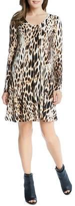 Karen Kane Blurred Cheetah Print Swing Dress $119 thestylecure.com