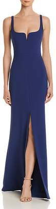 LIKELY Constance Slit-Front Gown