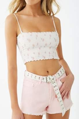 Forever 21 Button-Front Denim Shorts