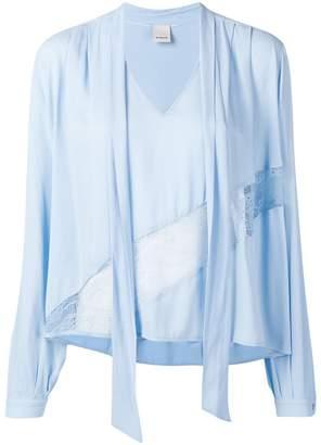 Pinko lace detail blouse