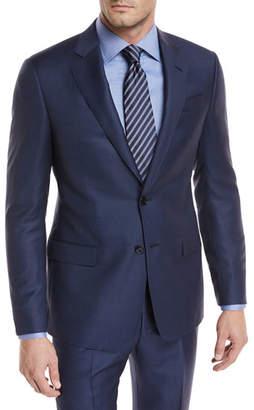 Giorgio Armani Tonal-Dot Wool Two-Piece Suit