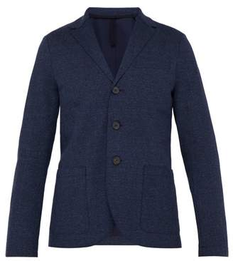 Harris Wharf London Single Breasted Slubbed Cotton Blend Blazer - Mens - Navy