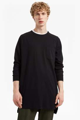 French Connection Peached Longline Jersey Sweatshirt