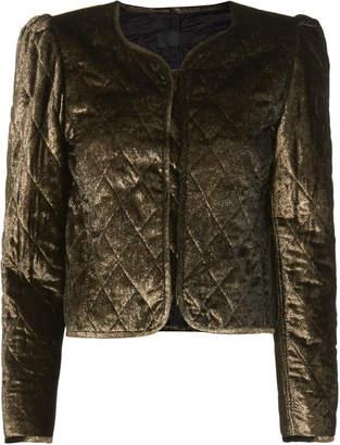 Nili Lotan Vienna Gold Quilted Jacket