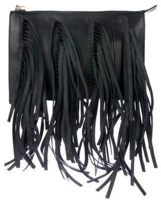 Marni Fringe Biker Crossbody Bag Black Fringe Biker Crossbody Bag