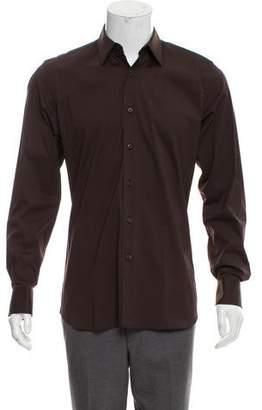 Prada Woven Button-Up Shirt