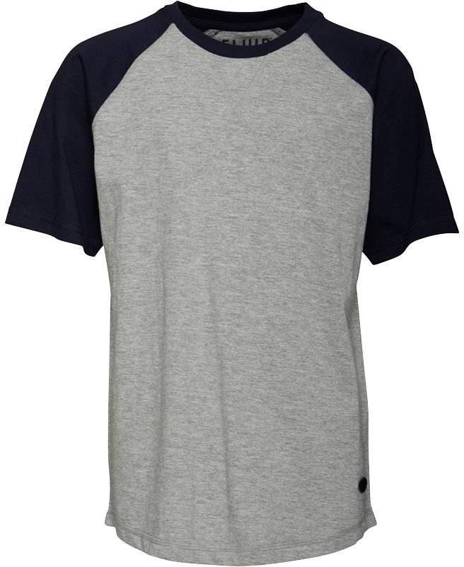 Fluid Jungen Raglan T-Shirt Graumeliert