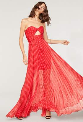 Milly Polka Dot Mckenzie Twist Gown
