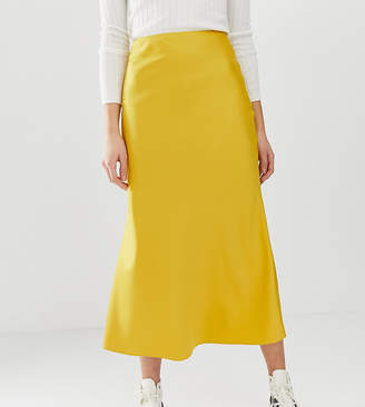 c98aea27c5 Asos Tall DESIGN Tall bias cut satin midi skirt