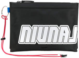 Lanvin logo printed clutch bag