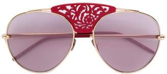 Pomellato Eyewear laser cut aviator sunglasses