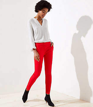 LOFT Petite Skinny Split Waist Pants in Marisa Fit