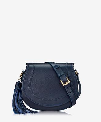 GiGi New York Jenni Saddle Bag, Ink Napa Luxe