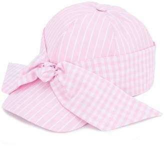 Federica Moretti gingham bow cap