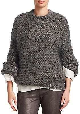 Brunello Cucinelli Women's Metallic Cable Knit Sweater