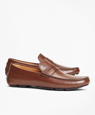 Brooks Brothers Leather Driving Moccasins