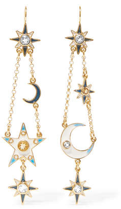 Percossi Papi - Gold-plated Multi-stone Earrings $680 thestylecure.com