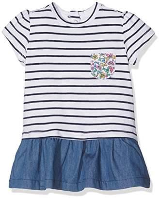 Chicco Baby Girls' 09093619000000 Dress, (White & Blue 038)