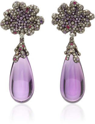 Arunashi One-Of-A-Kind Amethyst Drop Earrings