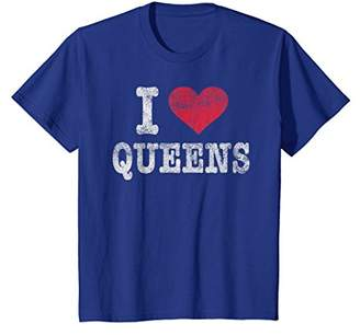 Distressed Retro I Love Queens NY T Shirt Souvenir