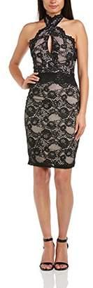 Lipsy Women's Mini Lace Halter Body Con Sleeveless Dress