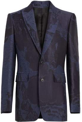 Burberry Classic Fit Dreamscape Wool Blend Tailored Jacket