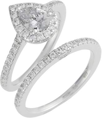 Lafonn Joined at the Heart Pear-Shaped Halo Ring