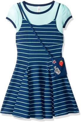 Beautees Big Girls' 2 Pc. Stripe Tee Shirt Dress