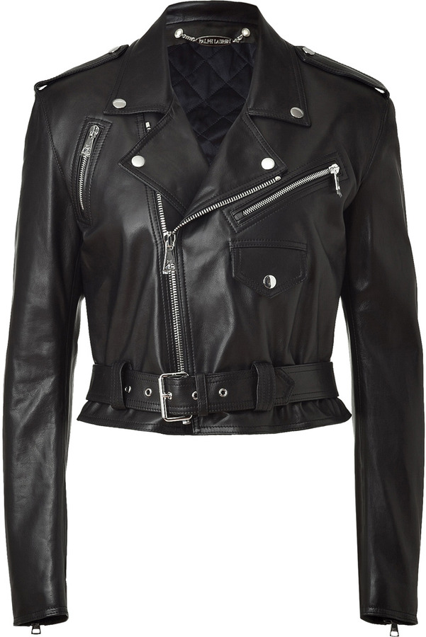 Ralph Lauren Collection Black Leather Jacket