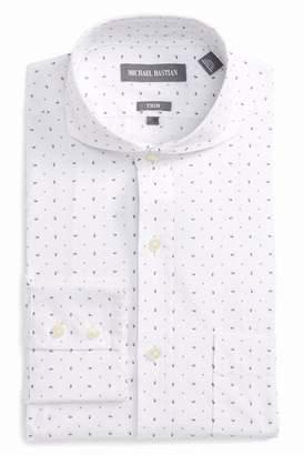 Michael Bastian Trim Fit Print Dress Shirt