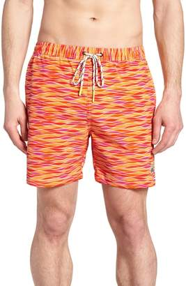 Psycho Bunny Printer Swim Trunks