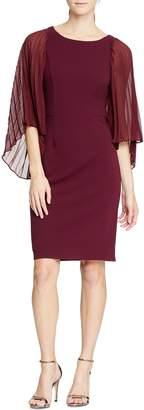 Halston Angel Sleeve Sheath Dress